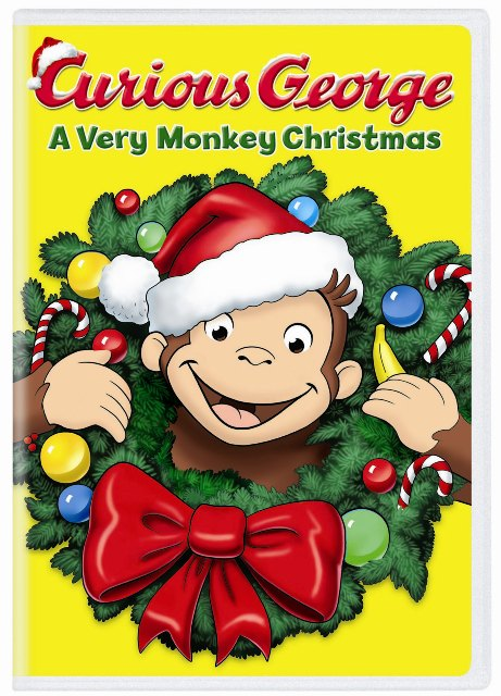 curious george avery monkey christmas dvd cover