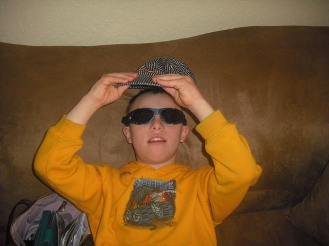 cj glasses hat