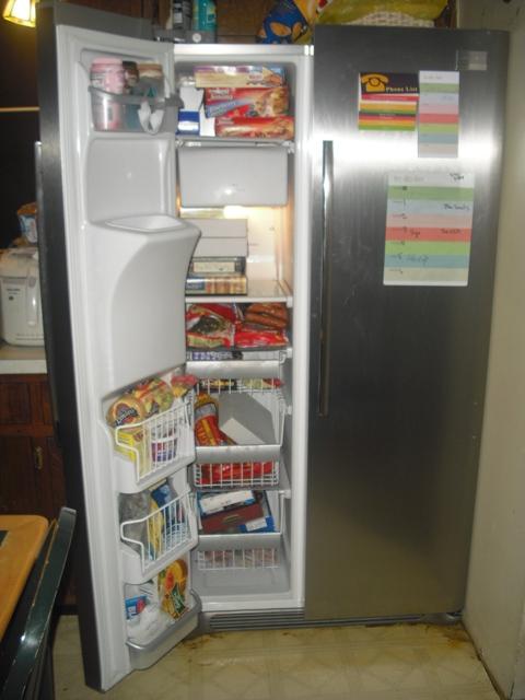 fridge freezer full