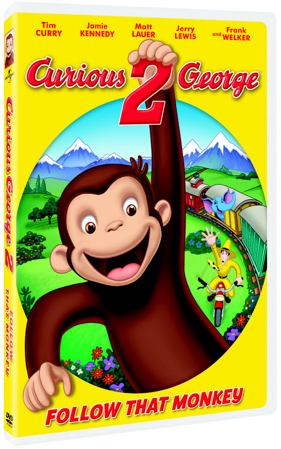 curious george 2 follow that monkey dvd cover