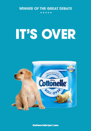 cottonelle its over winner banner