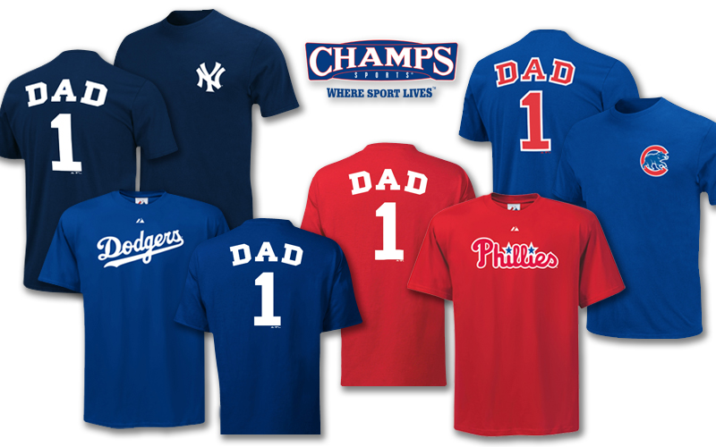 champs sports dad shirt