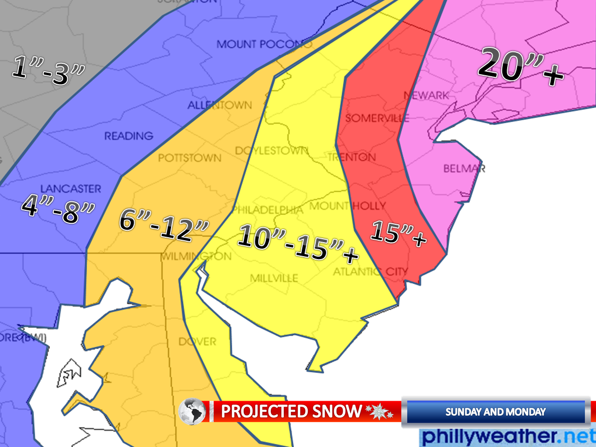 Projected 2010 Blizzard Map