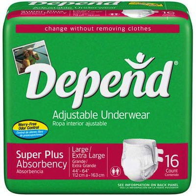 Depends Adjustable Underwear