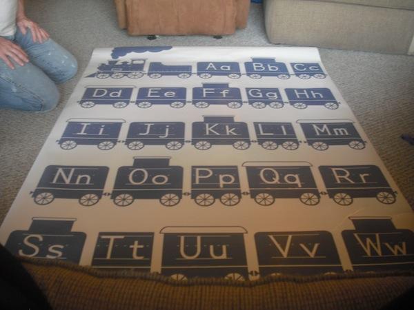 Dezign With A Z Alphabet Train