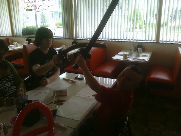 Sword Fighting At Breakfast