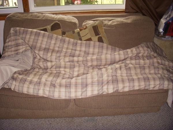Brown Plaid Comforter