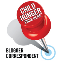 Child Hunger Ends Here Blogger Correspondent Pin