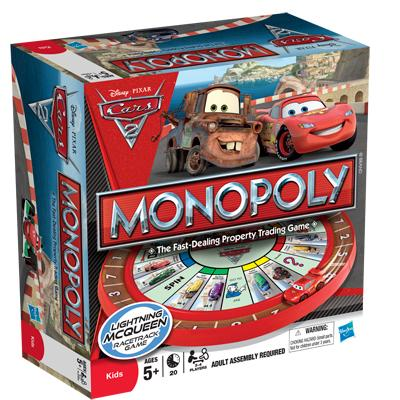 Cars 2 Monopoly Box