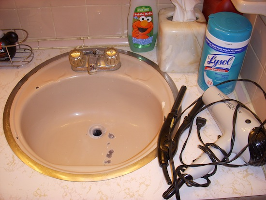 Coolcare Bathroom Counter Before