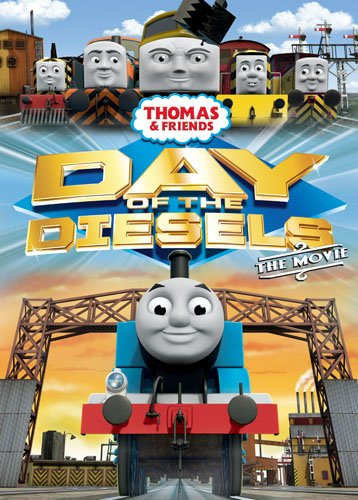 Thomas & Friends Day Of The Diesels Movie Dvd Cover