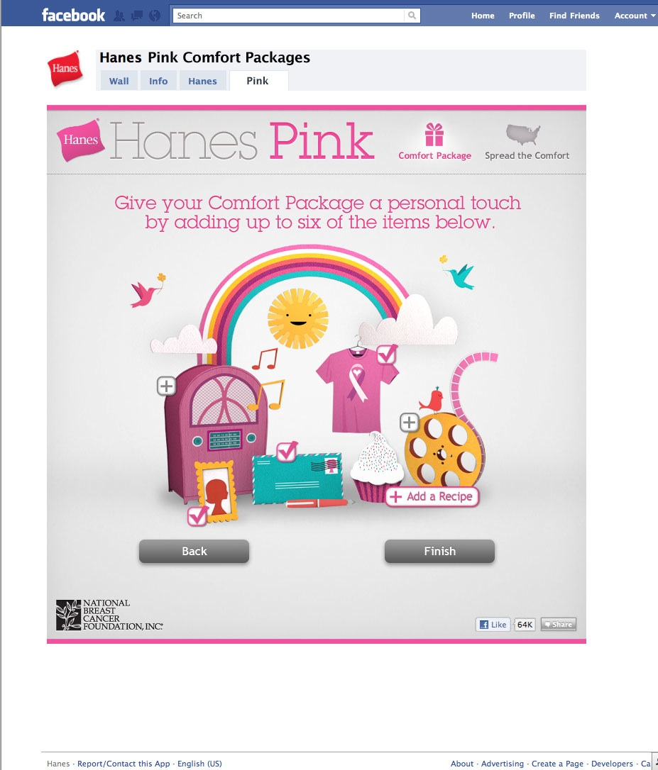 Hanes Pink Comfort Packages