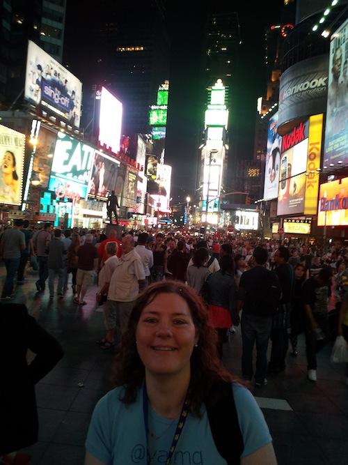 Me In Times Square Disney