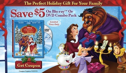 Beauty And The Beast Enchanted Christmas Coupon
