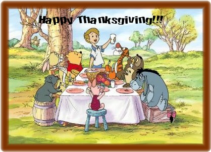Pooh Happy Thanksgiving