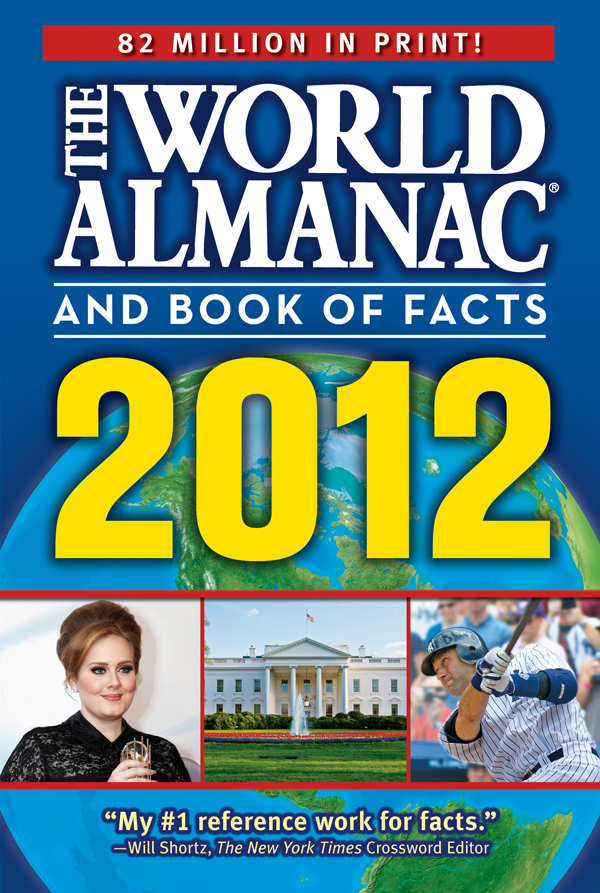 2012 World Almanac Book Of Facts Cover