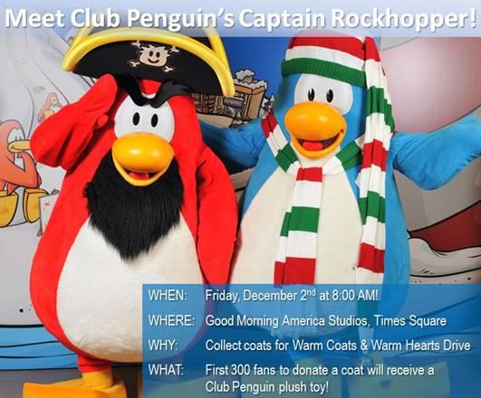 Club Penguin Warm Coats And Warm Hearts Drive