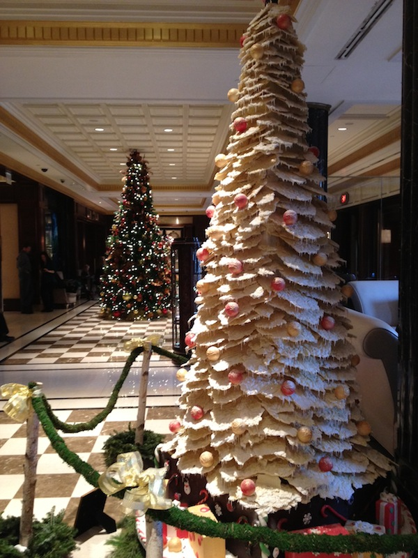 Wordless Wednesay - Lifesize Chocolate Christmas Tree at the Essex House