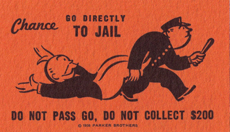 Monopoly Go To Jail Card