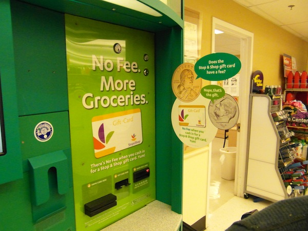 Cash Out Using A #NOFEECoinstar Machine At Stop & Shop - A