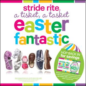 Stride Rite Easter banner