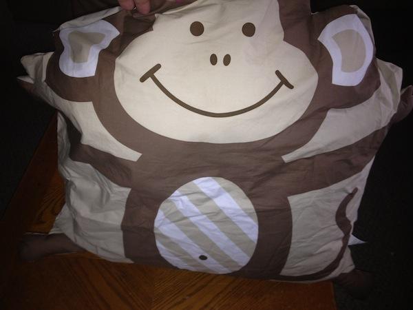 CompanyKids Pillowcase Friends Monkey