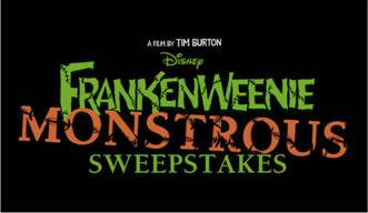 Frankenweenie Monstrous Sweepstakes