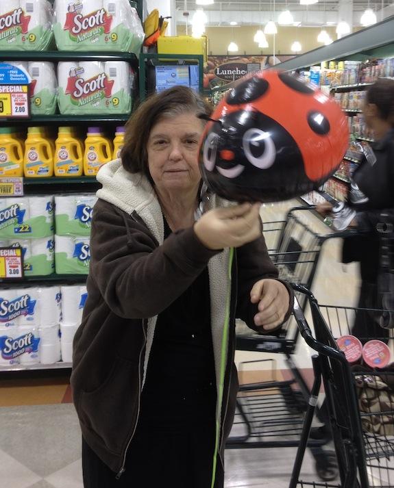 Mom Holding Balloon