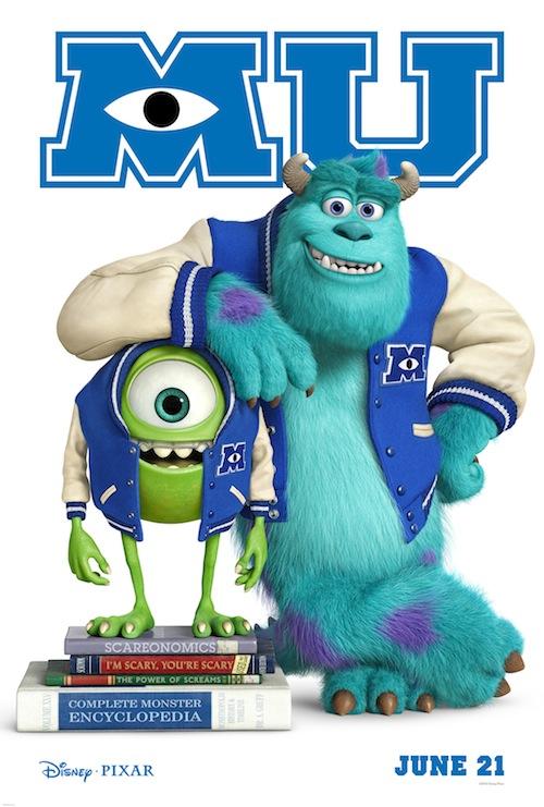 Monsters U poster