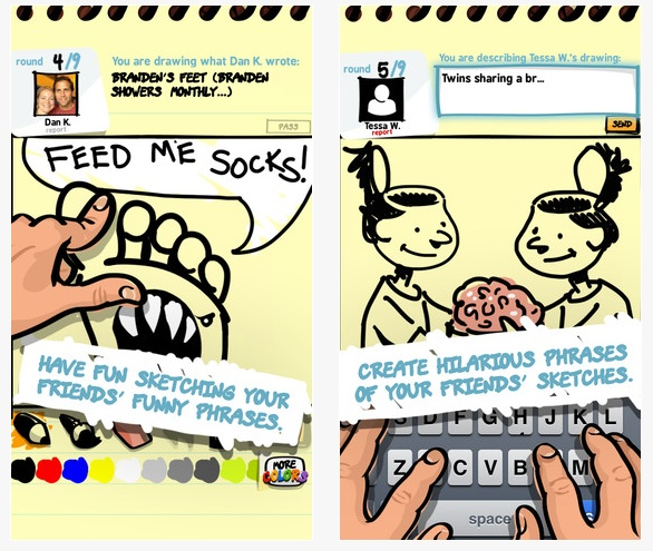 drawing game like telephone SketchPhrase Drawing And Telephone Game App Eat Poop You