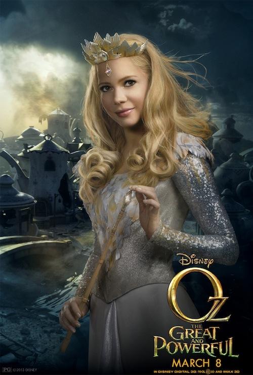 Oz Glinda Poster - Michelle Williams - #DisneyOzEvent