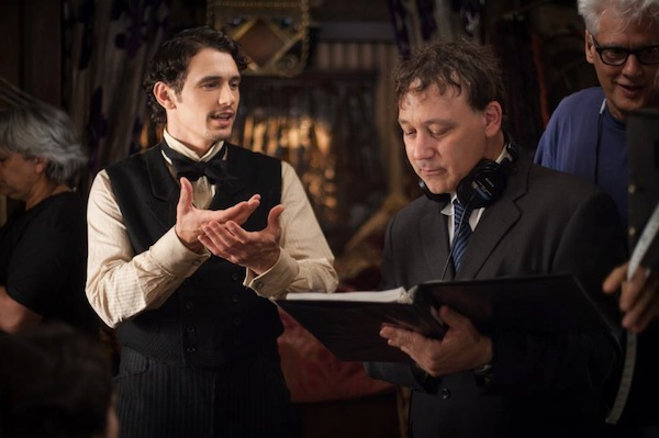 OZ The Great And Powerful - Director Sam Raimi (right) with James Franco (left)