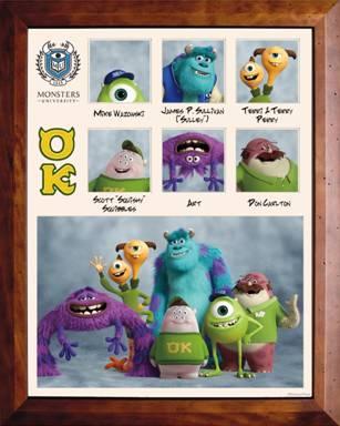 Disney Monsters U Alumni Poster