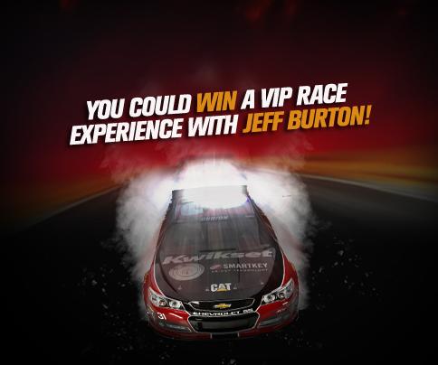 Jeff Burton - Kwikset - Nascar giveaway