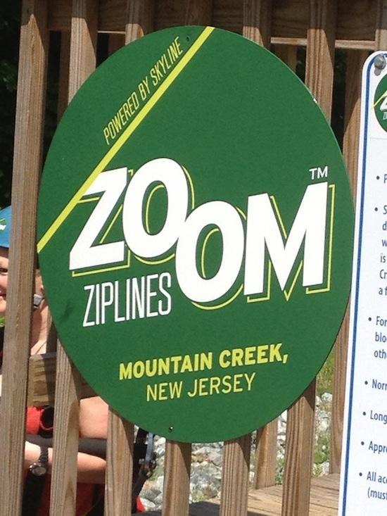 Zoom Ziplines Sign