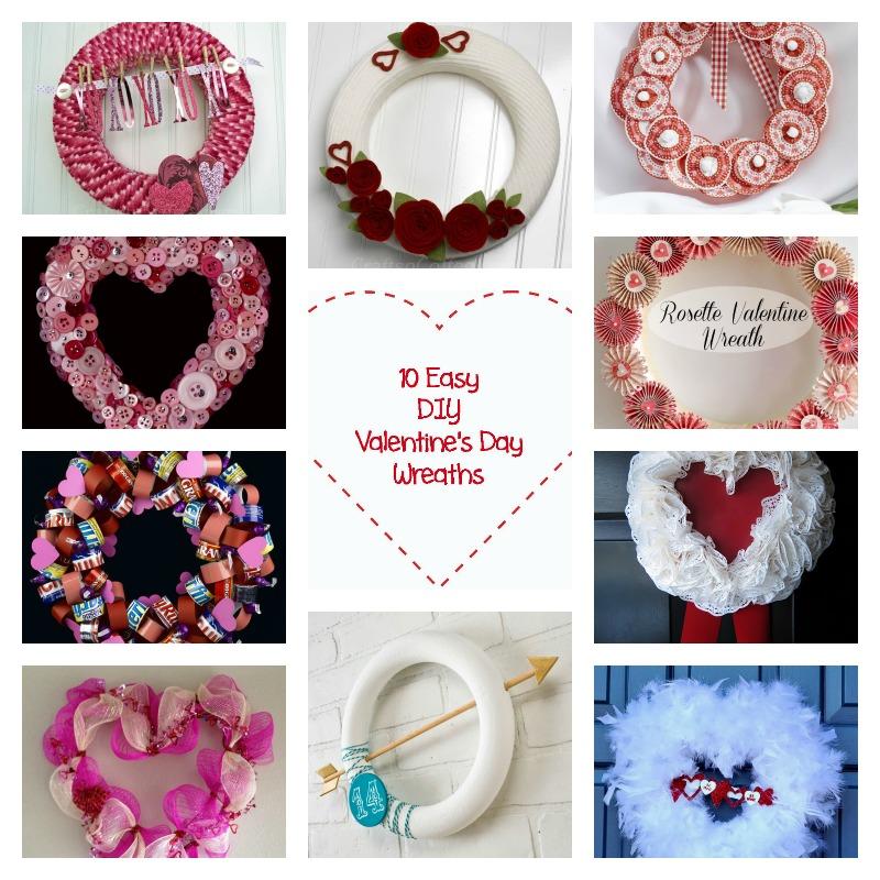 10 Easy DIY Valentines Wreaths Crafts