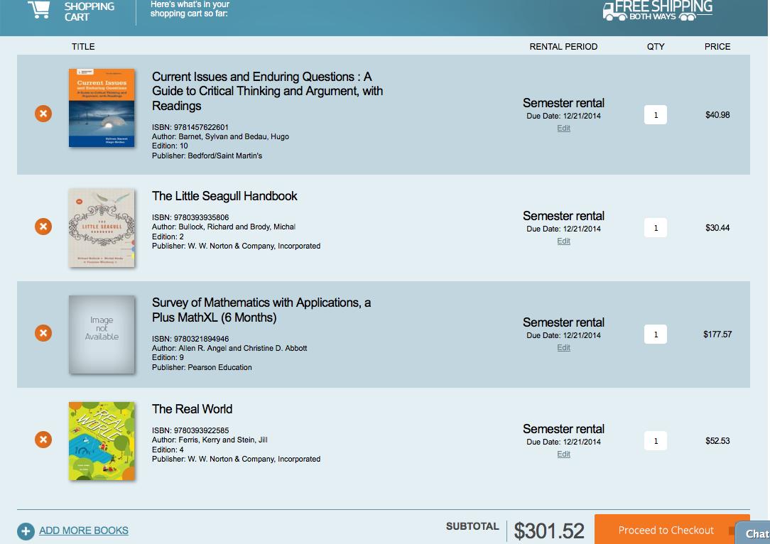 Campusbookrentals College Textbook Rentals