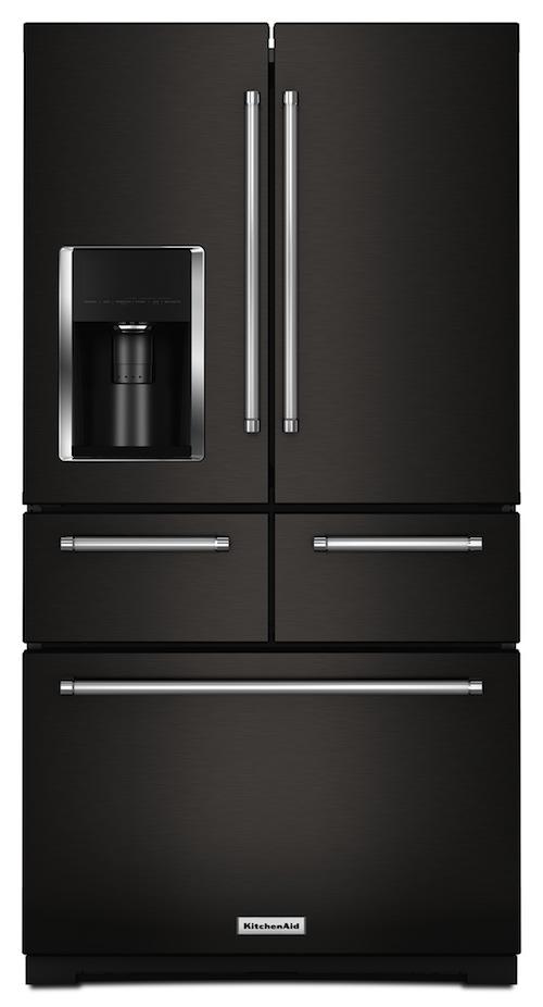 KitchenAid Black Stainless Fridge