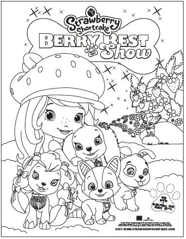 Strawberry Shortcake Berry Best activity sheet