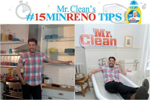 Mr Clean #15MinRenoTips