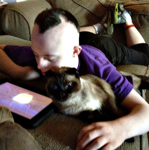 CJ with cat
