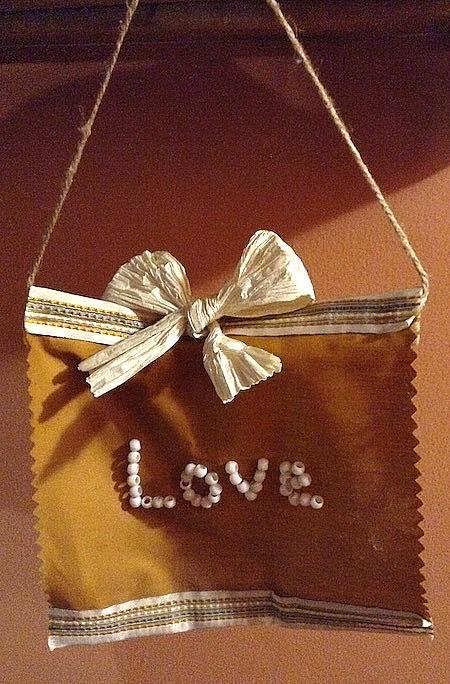 CJ's handmade love banner