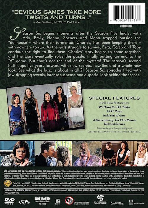 Pretty Little Liars: The Complete Sixth Season DVD