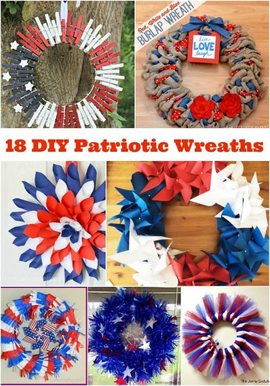 18 DIY Patriotic Wreaths
