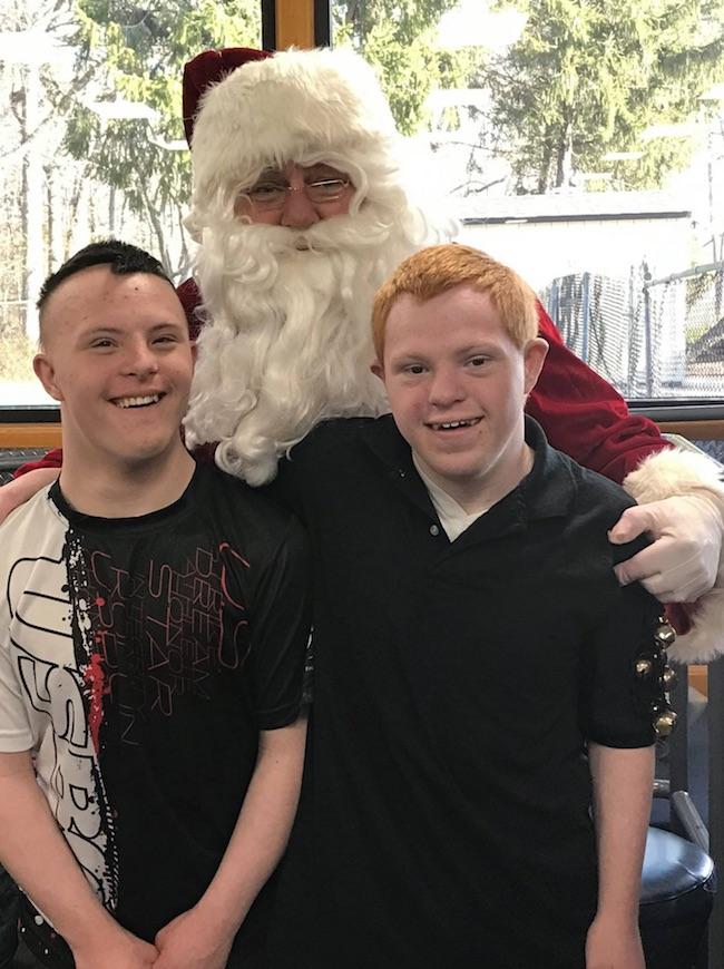 Santa at bowling