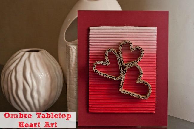 Ombre Tabletop Heart Art