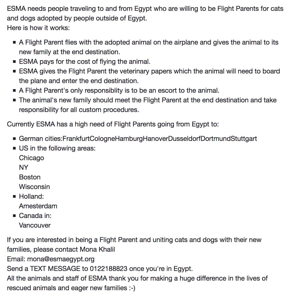 Willy - ESMA flight parents