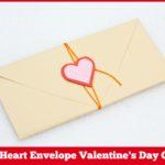 DIY Heart Envelope Valentine's Day Craft