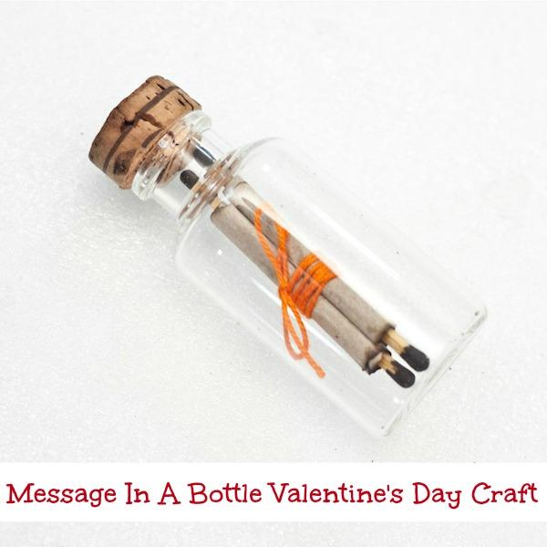 Message In A Bottle Valentine's Day Craft