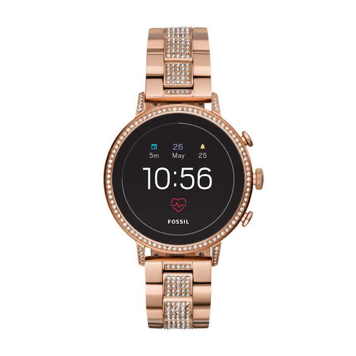 Fossil Gen 4 Venture HR Smartwatch in Rose Gold